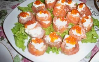 Закуска из красной рыбы со сливочным сыром