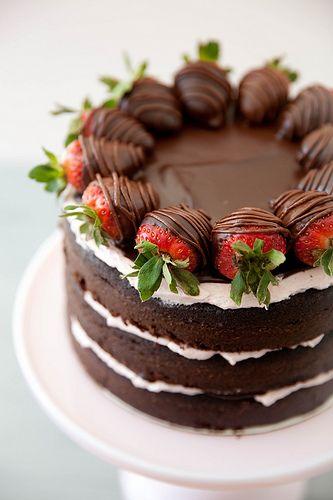 nacked cake открытый торт