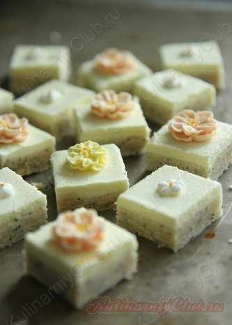 Лимонный Poppyseed Сахар Cookie Бары фото