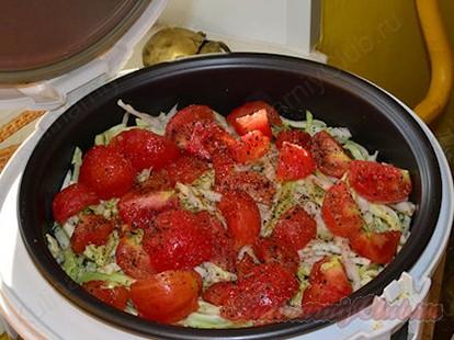 готовим овощное рагу в мультиварке