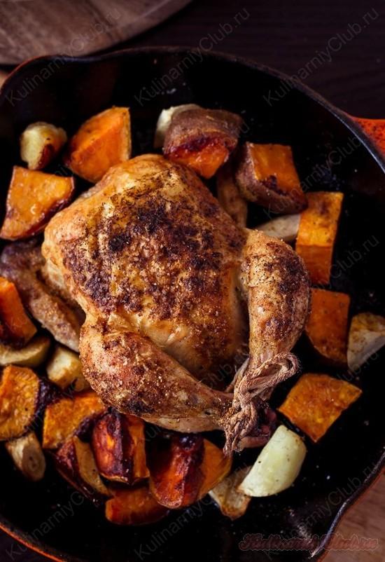 Запеченная Курица с бататом