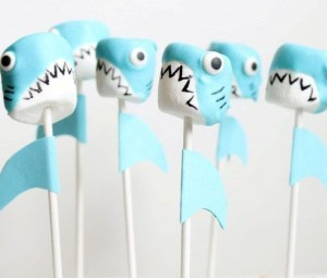 акулы монстры  из маршмеллоу
