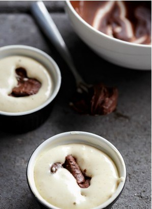 Сдобные ванильные кексы с жидкой начинкой из шоколадного ганаша./Рецепт с фото
