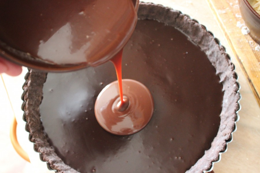 тарт три шоколада