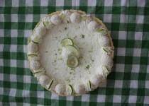 Кокосово-лаймовый тарт. Лаймовый пирог. Key lime pie.