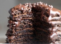 Шоколадные пышные блины