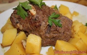 Запеченное мясо(Говядина) в мультиварке