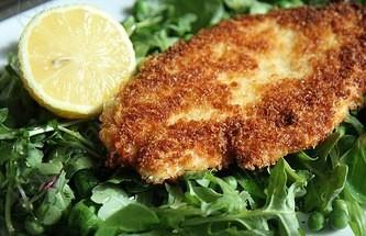 Жареная Лимонная Курица под корочкой из сыра Пармезан