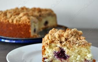 Ежевичный пирог с крошкой фото