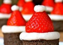 Брауни шапочки Деда мороза