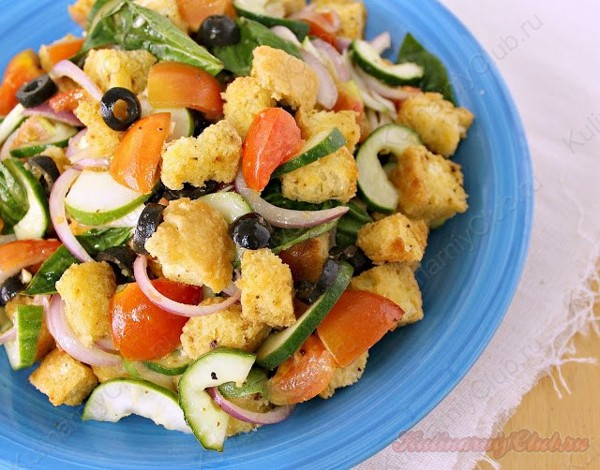 Полезный овощной салат фото