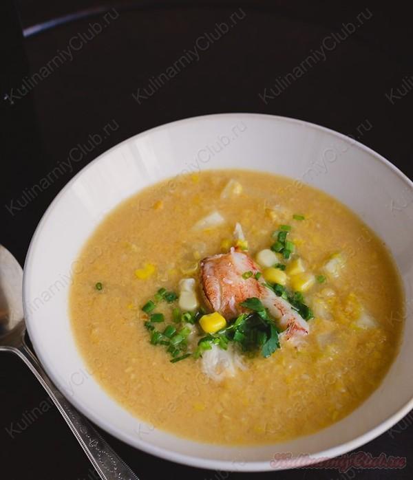 Тайский крабовый суп фото