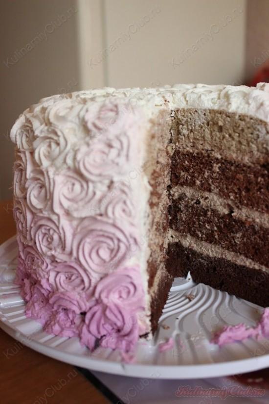 рецепт амбре на торт