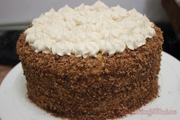 Ореховый торт с масляным кремом фото