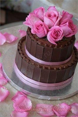 Украшение торта шоколадными пластинами. Как сделать шоколадные пластины