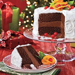 Шоколадный цитрусовый торт