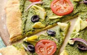 Средиземноморская Песто Пицца фото