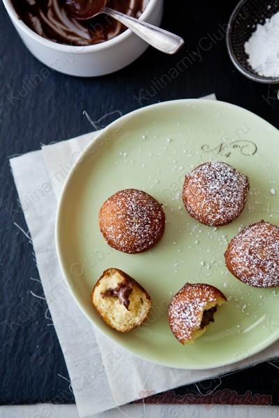 Пончики с Нутелллой фото