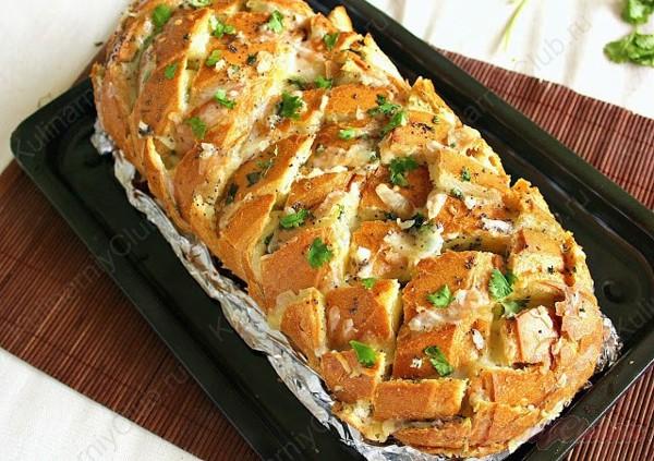 Фаршированный итальянский хлеб, фото